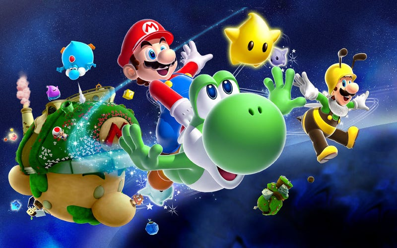 Illustration for article titled Super Massive Galaxy In Super Mario Galaxy 2 Is A Loving Tribute To Super Mario Brothers 3's Giant Land