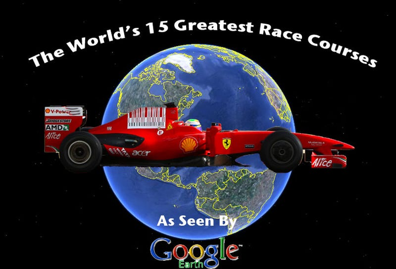Illustration for article titled World's Top 15 Race Courses, As Seen By Google Earth