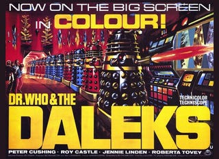 Illustration for article titled Guess who's going to see Dr. Who and The Daleks tonight?