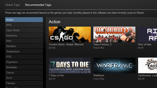 Illustration for article titled Steam Now Allows Users to Tag Games, Get Recommended Games from Tags