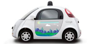 Illustration for article titled Here's Your Chance To Turn Google's Self-Driving Vehicles Into Art Cars