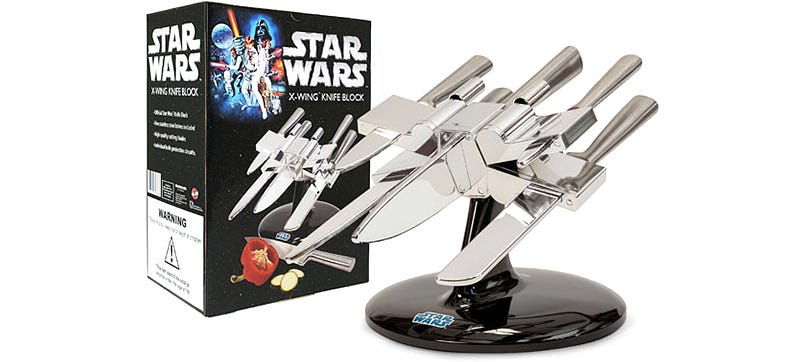 Illustration for article titled Start a Rebellion In Your Kitchen With an X-wing Knife Holder