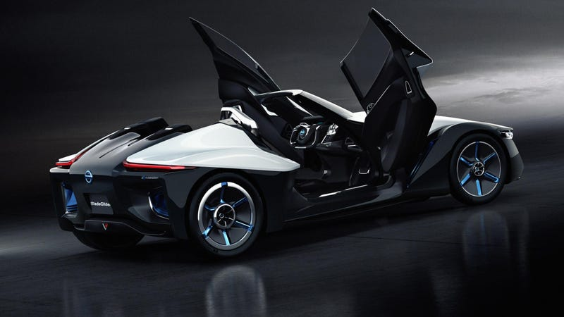 Illustration for article titled The Nissan BladeGlider Is A Three-Seater DeltaWing For The Street