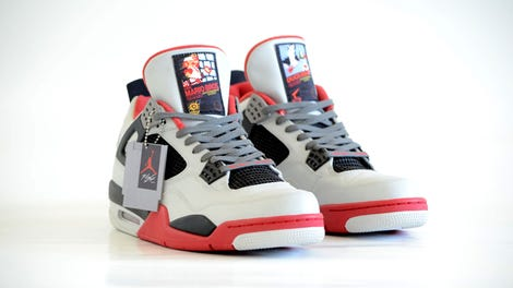db303a0913ca5d Nintendo-Themed Jordans Are About As 1989 As It Gets