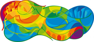 Illustration for article titled The New Branding For Rio 2016 Looks Like a Very Friendly Amoeba