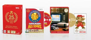 Illustration for article titled Nintendo Celebrates Mario's Birthday With Red Wiis and Gaming Boxsets