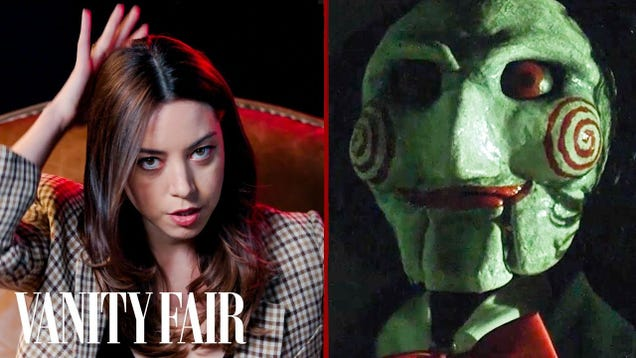 Aubrey Plaza talks the new Child's Play while reviewing creepy cinematic dolls