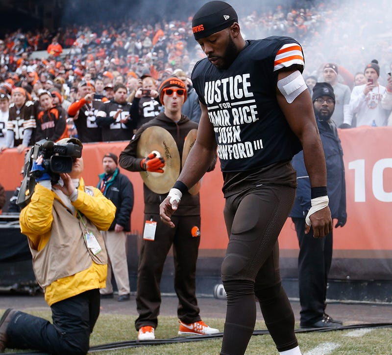 "Illustration for article titled Cleveland Cops Demand Apology, Call Activist Browns Players ""Pathetic"""