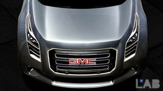 """Illustration for article titled GMC Urban Utility Concept Teases Us With An """"a-Team Van"""" For Detroit"""