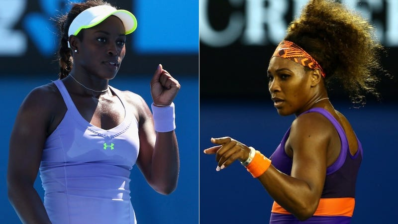 """Illustration for article titled Can Anyone Think Of Another Reason Sloane Stephens Is Considered Serena Williams's """"Protégé""""?"""