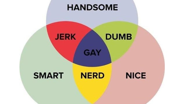 handy venn diagram stereotypes every man on earth VIN Diagram illustration for article titled handy venn diagram stereotypes every man on earth