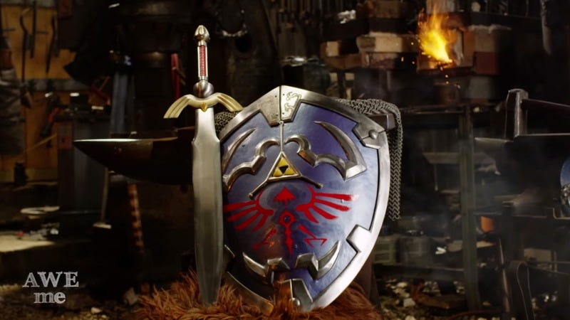 Illustration for article titled Blacksmiths forged The Legend Of Zelda's Hylian Shield and Master Sword
