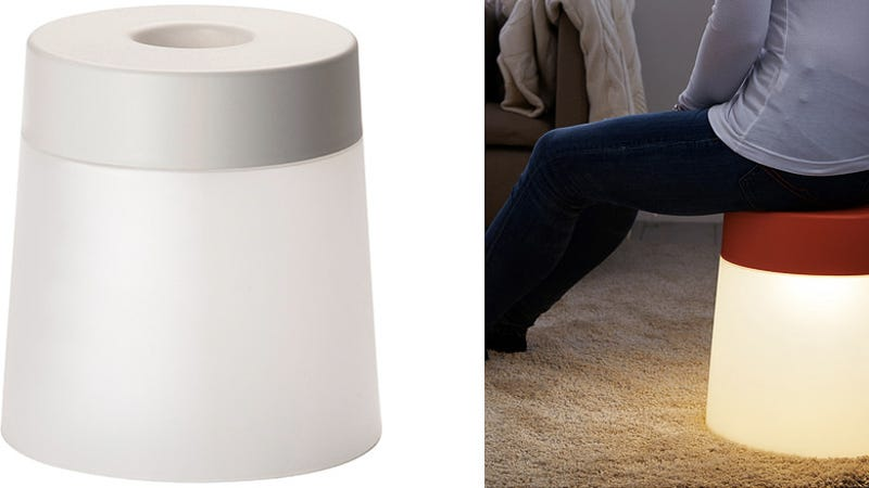 ikea 39 s new glowing stool lights a safe led fire under your butt. Black Bedroom Furniture Sets. Home Design Ideas