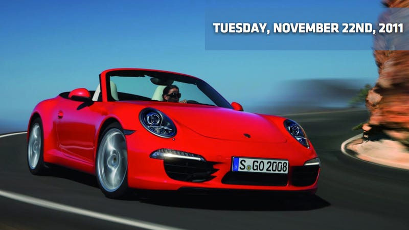 Illustration for article titled 2012 Porsche 911 Cabriolet, Toyota drops an FT-86 ad, and M550d has torque, glorious torque