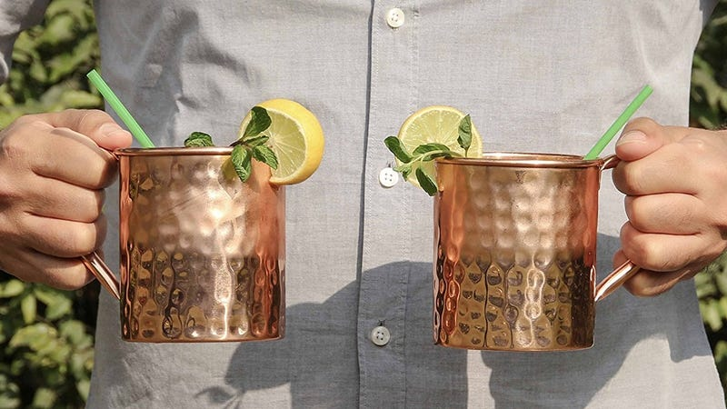 2-Pack Hammered Copper Mugs, $16 with code NET45OFF
