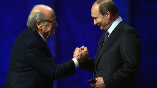 Vladimir Putin Says His Homeboy Sepp Blatter Deserves A Nobel Prize