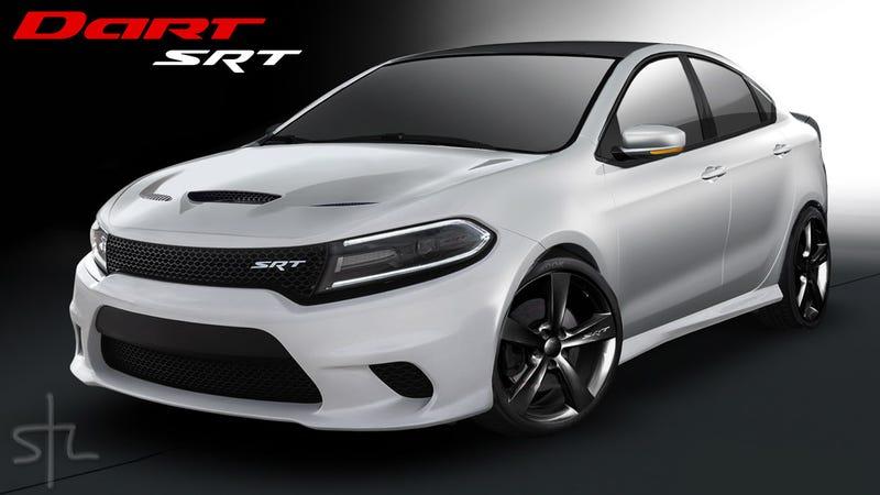 Dodge Dart Srt4 >> The Dodge Dart SRT Should Look Like This Baby Hellcat Render