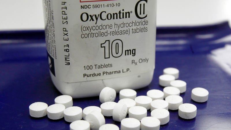 OxyContin, manufactured by Purdue Pharma LP.