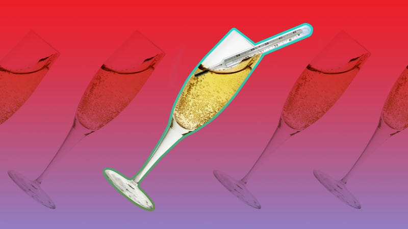 Illustration for article titled There's an ideal temperature for your champagne