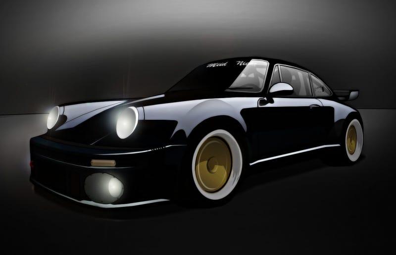 "Illustration for article titled Wangan's infamous ""Blackbird"" Porsche 930 Turbo"