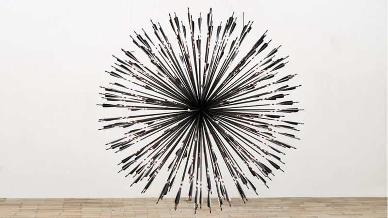 Illustration for article titled This Sculpture Would Result From 200 Arrows Hitting One Target