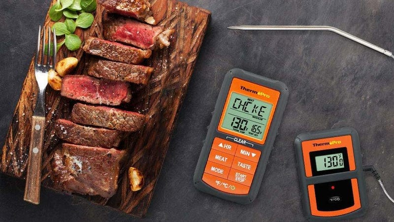 ThermoPro TP-07 Single Probe Wireless Remote Digital Cooking Thermometer | $25 | AmazonThermoPro TP-20 Dual Probe Wireless Remote Digital Cooking Thermometer | $42 | Amazon