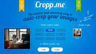 Illustration for article titled Cropp.me Automatically Crops Multiple Images Online