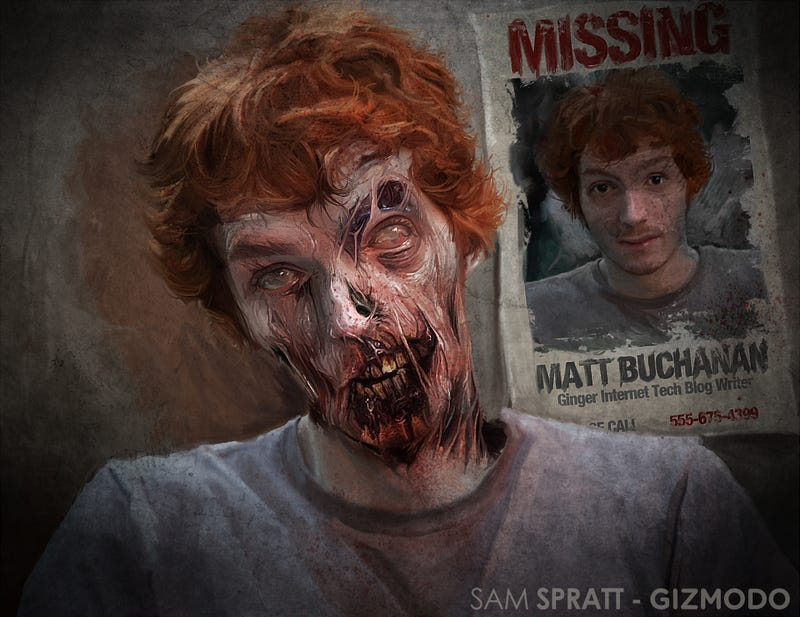 Illustration for article titled Join Us On Facebook To Win A Zombified Portrait Of Yourself