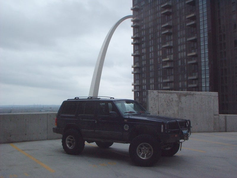 About the only photo of one of my vehicles with the Arch.