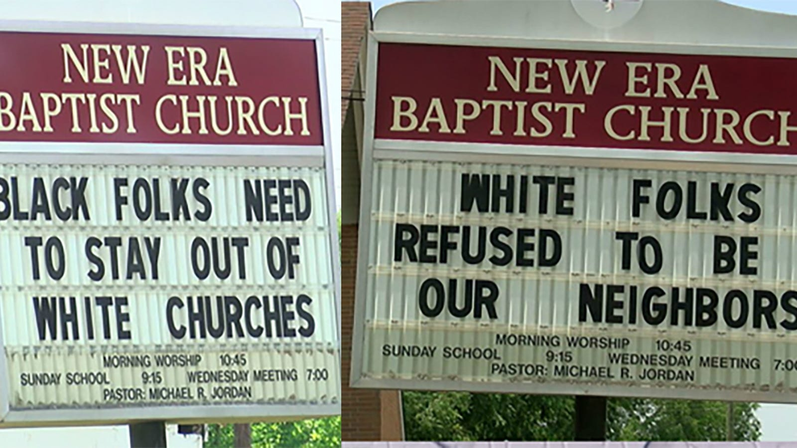 Pastor Fights Megachurch Gentrification With Sign Telling Black Folks to 'Stay Out of White Churches'