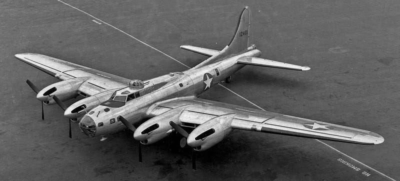Illustration for article titled The Prettiest B-17 Flying Fortress Was The XB-38