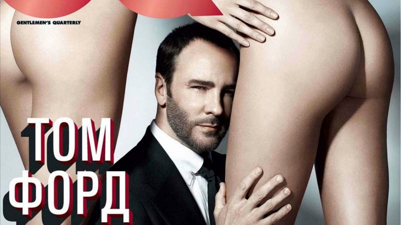 Illustration for article titled Here Is A Photo Of Tom Ford Pulling Fragrance Strips Out Of A Naked Woman's Ass