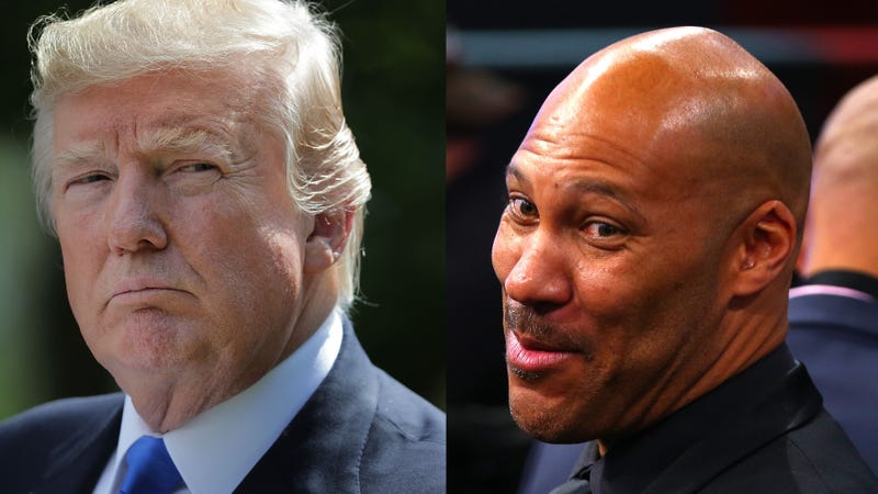 President Donald Trump  (Chip Somodevilla/Getty Images); LaVar Ball (Mike Stobe/Getty Images)