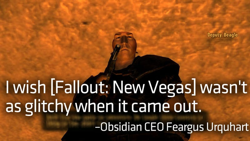 Illustration for article titled Obsidian is Sorry that Fallout: New Vegas Was So Buggy