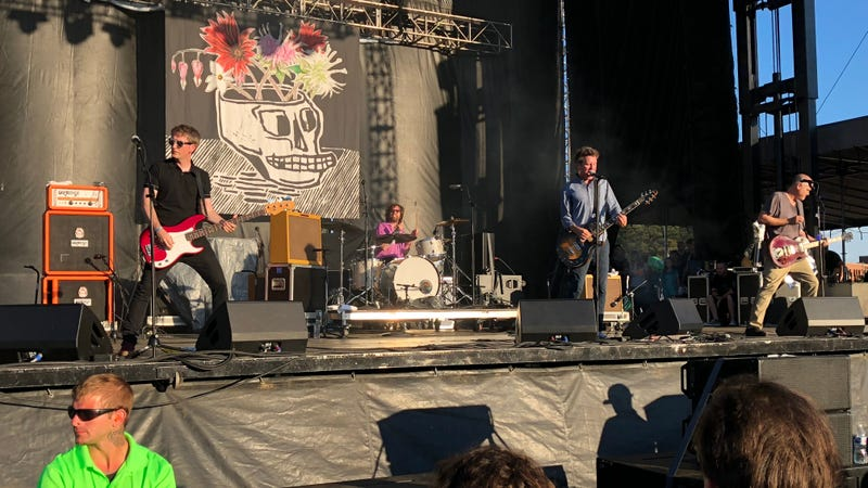 Superchunk, one of the few veteran acts playing new music the crowd actually seemed to know