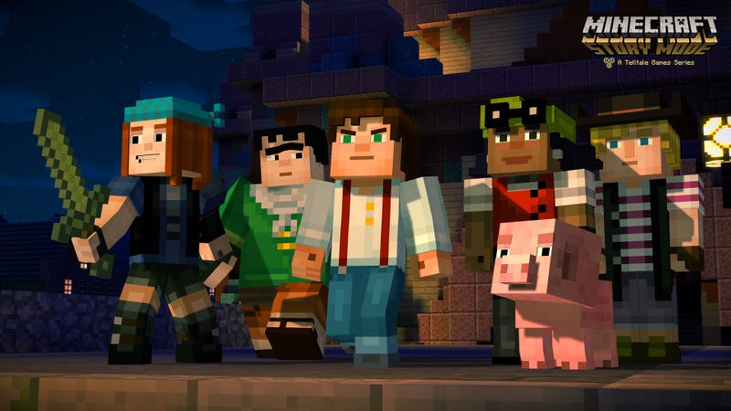 Illustration for article titled Minecraft: Story Mode Is A Strange Conundrum