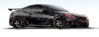 Illustration for article titled Street Concepts Hyundai Genesis Coupe Concept Coming To SEMA