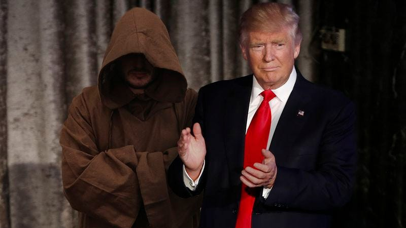 Illustration for article titled Shaking Up Washington: Donald Trump Just Appointed A Cloaked Man As Secretary Of The Hook