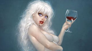 Illustration for article titled The Loveliness That Will Not Die: Sexy Vampire Pin-Up Art