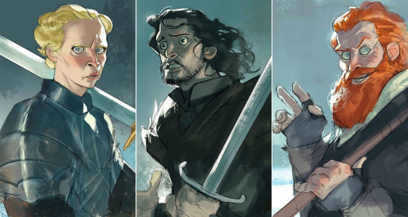 Illustration for article titled If Game Of Thrones Was A Cartoon