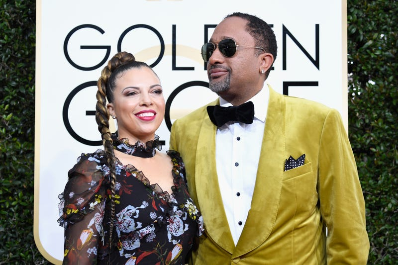 Producer Kenya Barris (R) and Dr. Rainbow Edwards-Barris attend the 74th Annual Golden Globe Awards at The Beverly Hilton Hotel on January 8, 2017 in Beverly Hills, California.