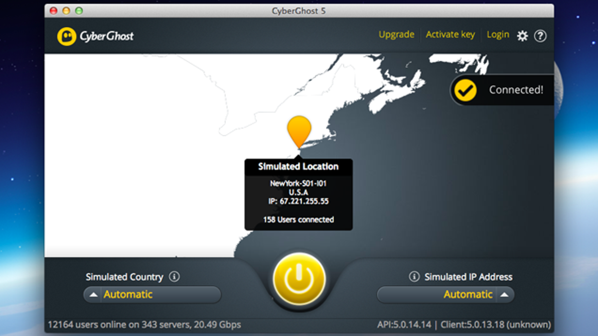 CyberGhost VPN for Mac Lets You Browse the Web Safely and