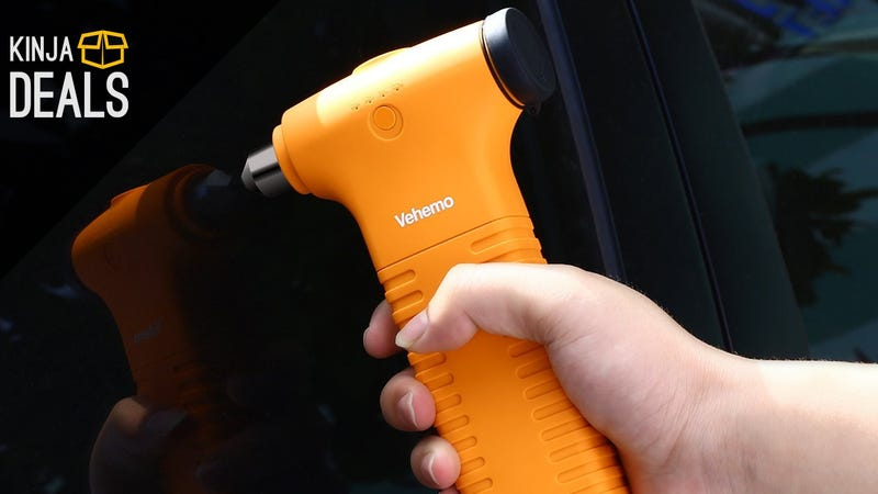 Illustration for article titled Car Jump Starter + External Battery Pack + Hammer + Flashlight
