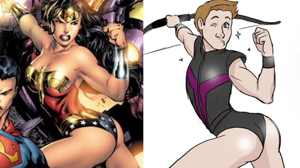 Sexualization in the comic book universe