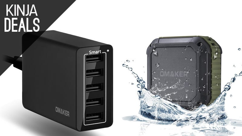 Illustration for article titled Buy a Shower-Proof Bluetooth Speaker, Get a 5-Port USB Charger Free