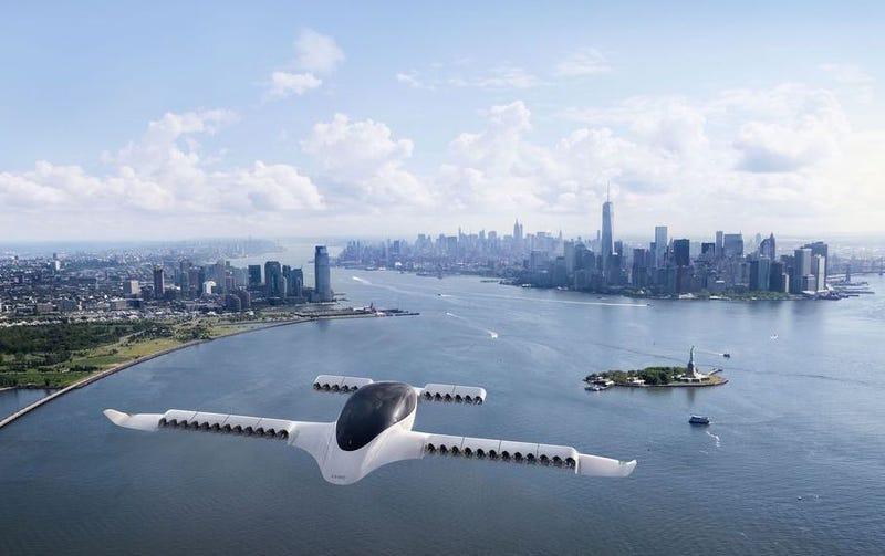 Illustration for article titled Lilium, el taxi volador eléctrico de cinco plazas, completa con éxito su primer despegue vertical