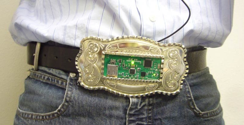 Illustration for article titled MP3 Belt Buckle Activates With Hip Thrusts