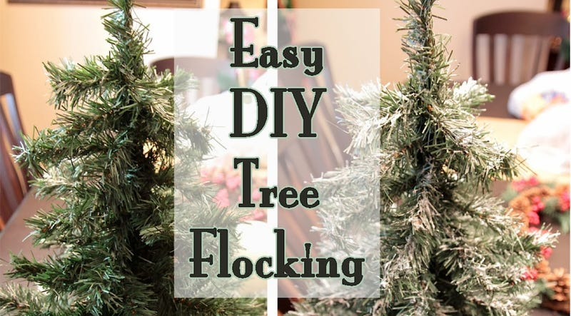 Create One-Ingredient Fake Snow for Christmas Trees with Spackle