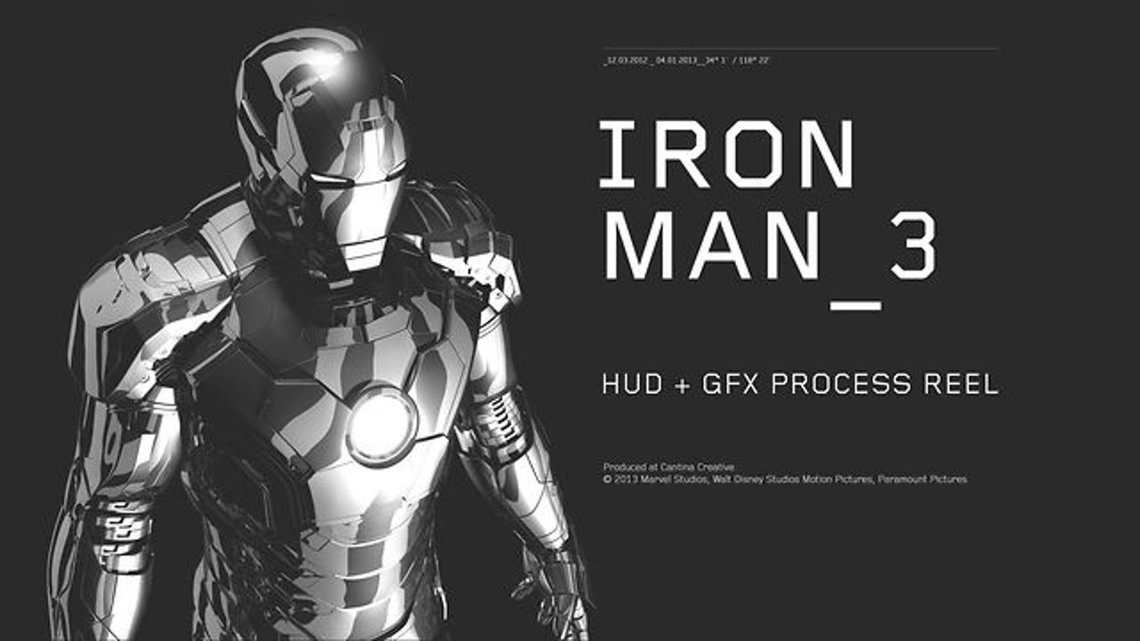 Los efectos especiales dentro del casco de Iron Man 3