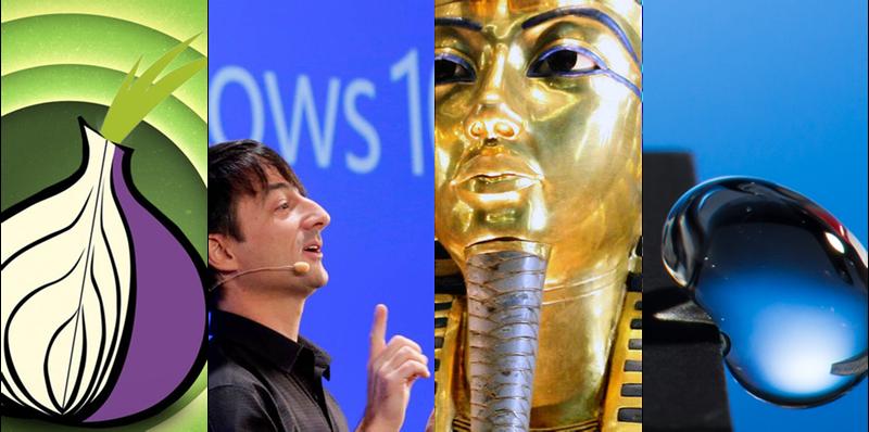 Illustration for article titled Hologramas, chapuzas web, faraones y Windows 10, lo mejor de la semana